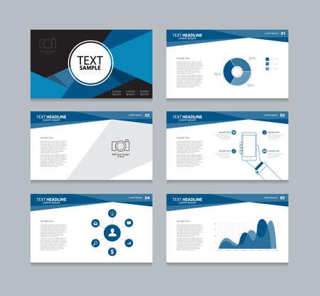 Vector template presentation slides background design Stock Illustratie