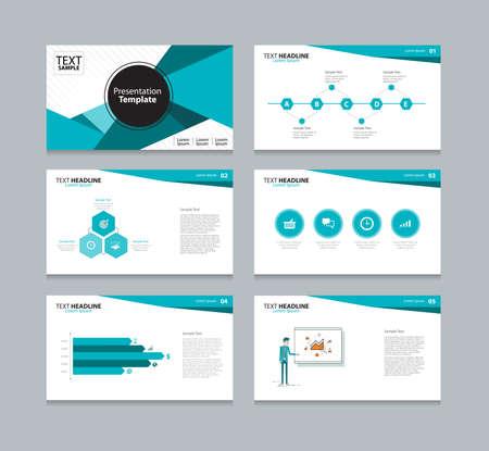 Vector template presentation slides background design Vettoriali