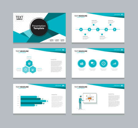 Vector template presentation slides background design Çizim