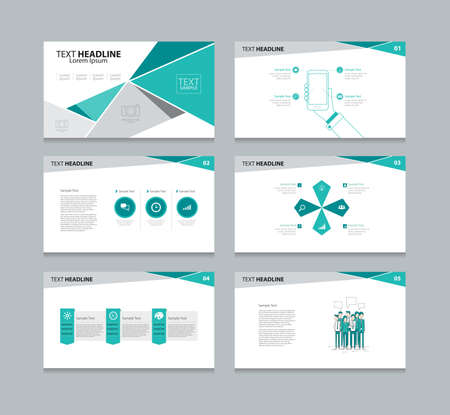 Vector template presentation slides background design Ilustração