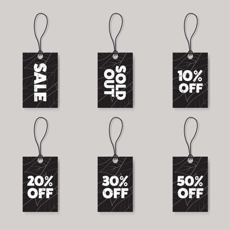 discount tag: advertising discount vintage tag Illustration