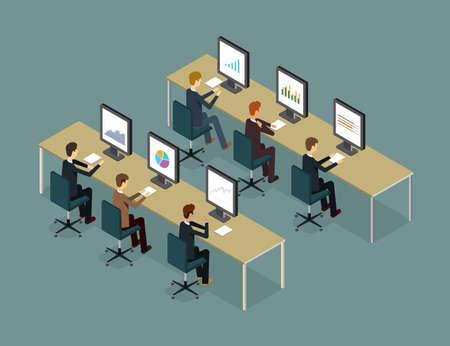 les gens d'affaires d'analyse sur le rapport moniteur graphique et référencement sur le web.