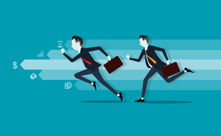 activity: two business man. competitive . info graph.fast business.business leader