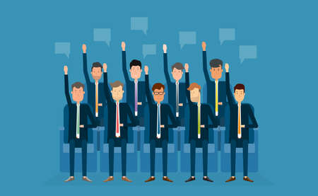 electors: people busines vote.business team.business meeting.cartoon character