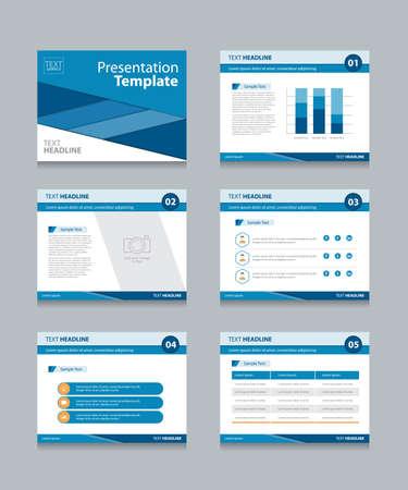 presentation template: business presentation template set.