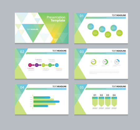 abstract business template presentation slide background design
