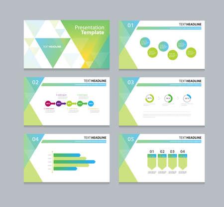 plantilla de negocio abstracto diseño de fondo de la presentación de diapositivas