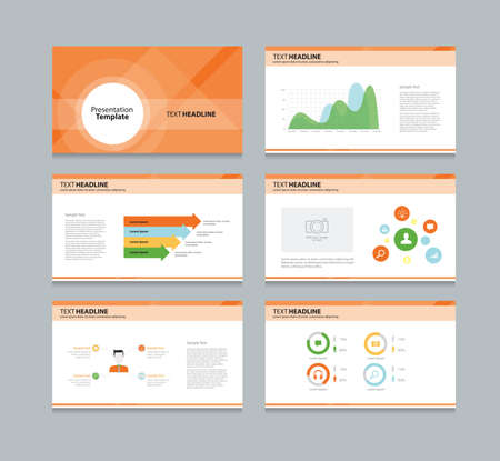 layout design template: abstract business template presentation background