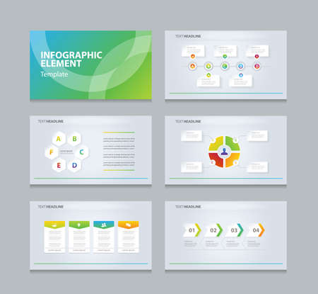 business info graphic presentation element template Ilustração