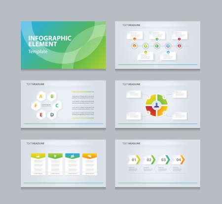 business info graphic presentation element template Vettoriali