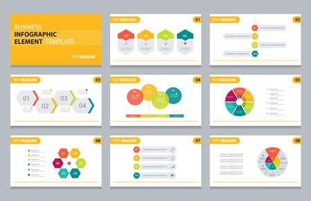ビジネス情報グラフィック プレゼンテーション要素テンプレート