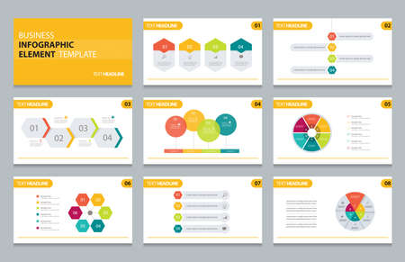 business info graphic presentation element template 向量圖像