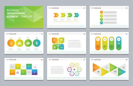 business info graphic presentation element template  イラスト・ベクター素材