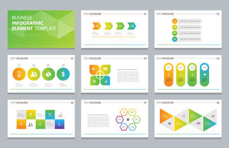 business info graphic presentation element template Illustration