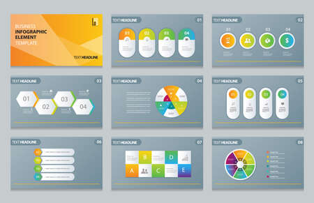 business info graphic presentation element template Vectores