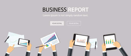 analytic: business analytic graph report . business investment planning