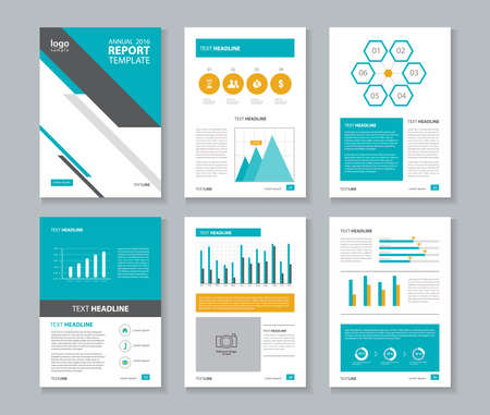 annual report: annual report layout template
