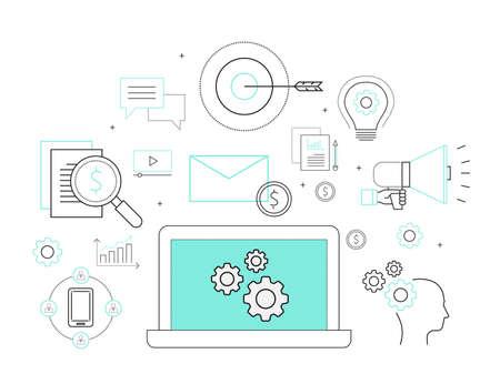 Geschäftsprozesse und kreative Business-Konzept