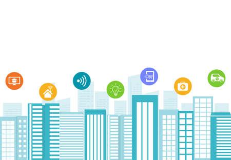 5g: business smart city.internet connection.social concept