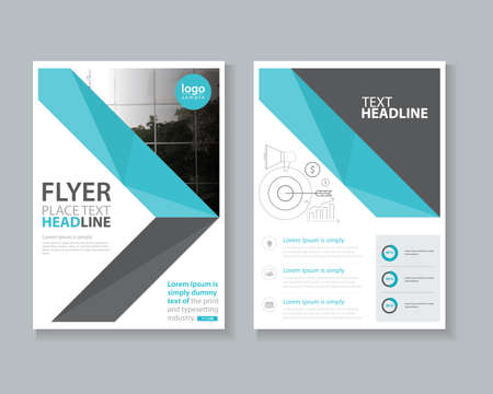 page design: page brochure, flyer ,report Layout design template, and cover design
