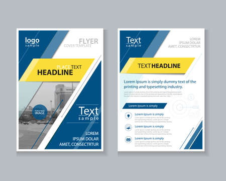 flyer design: blue brochure, flyer ,report Layout design template, and cover design for business