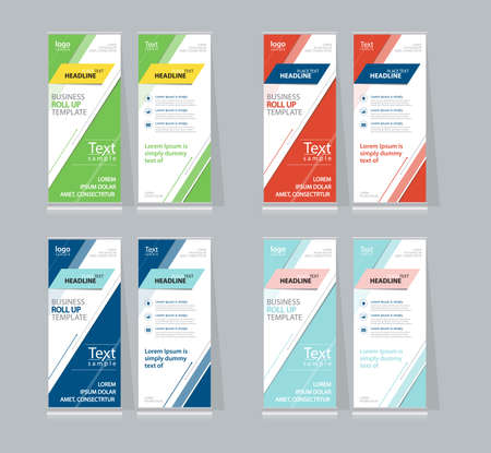 x stand: set color full roll up , x stand display design template for business