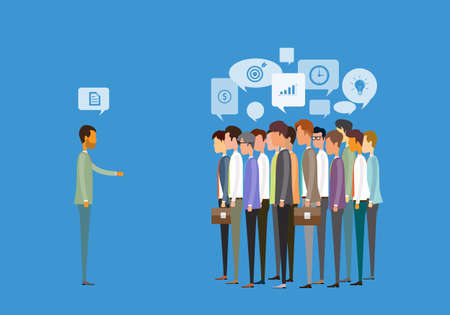 group people business meeting and business deal concept Illustration
