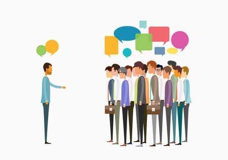 grupo de reunión de personas de negocios y el concepto de comunicación empresarial
