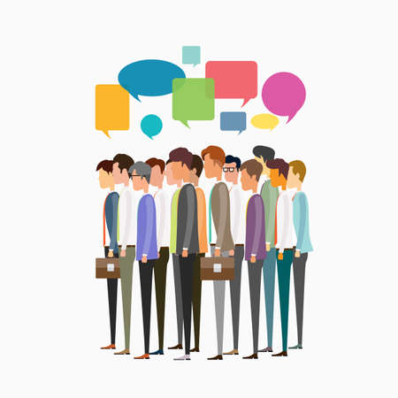business communication: group people business man  communication Illustration