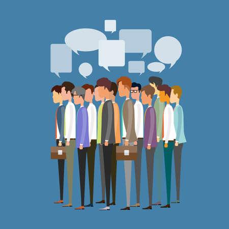 business communication: group people business communication Illustration