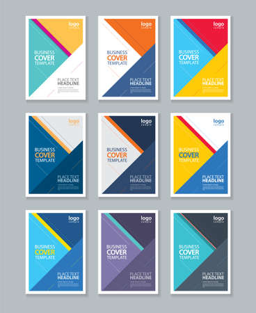 covers: color full cover page brochure, flyer ,report Layout design template