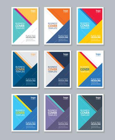 portadas: página full color cubierta del folleto, folleto, diseño de la plantilla de diseño del informe Vectores