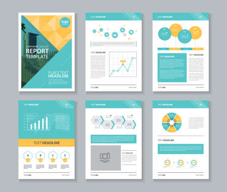 business flyer: company profile ,annual report , brochure , flyer, page layout template,and business info chart element template