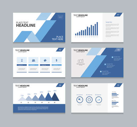 page layout design template for presentation and  brochure ,Annual report,  flyer and book  .with infographic elements design