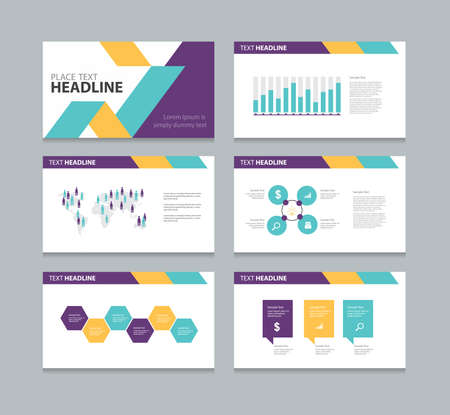 slide show: page layout design template for presentation and  brochure ,Annual report,  flyer and book  .with infographic elements design