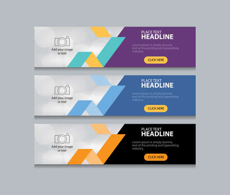abstract web banner design template background Ilustração