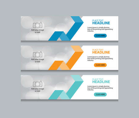 abstract web banner design template background  イラスト・ベクター素材