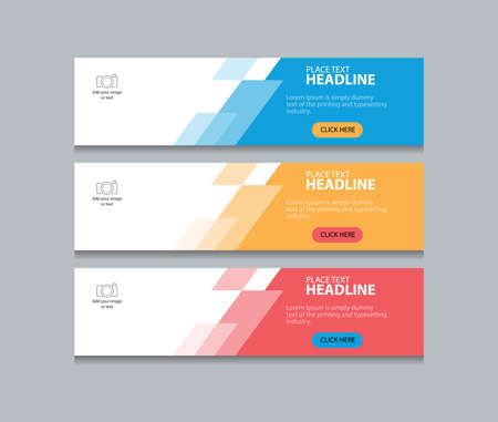 abstract web banner design template achtergrond
