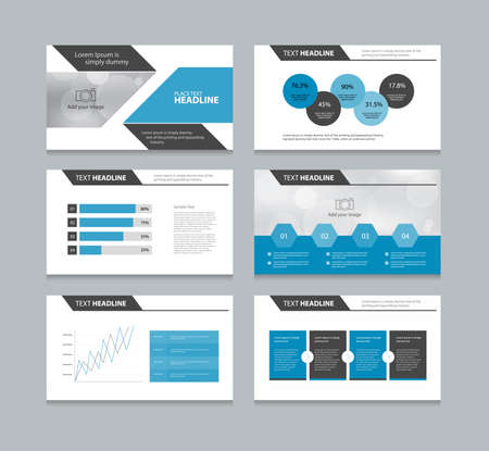 abstract page presentation template with info graphic elements design