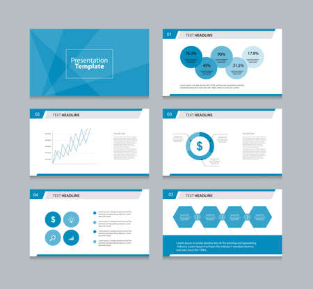 page design: abstract cover background  and page layout design template for presentation and brochure .with info graphic elements design Illustration