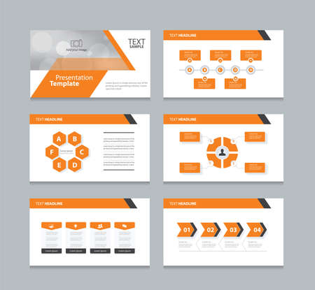 graphic elements: abstract cover background  and page layout design template for presentation and brochure .with info graphic elements design Illustration