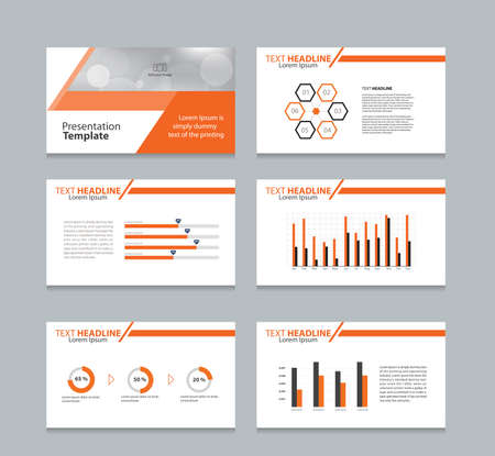 brochure cover design: abstract cover background  and page layout design template for presentation and brochure .with info graphic elements design Illustration