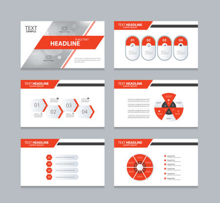 abstract cover background  and page layout design template for presentation and brochure .with info graphic elements design Illustration