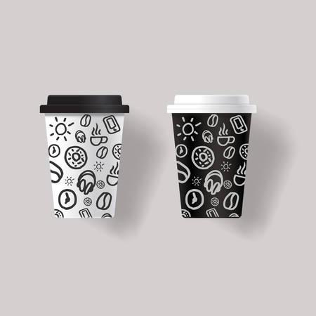 tasse de café modèle de conception maquette avec la conception des modèles texture de fond