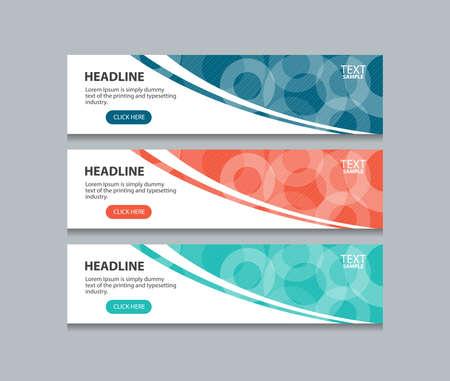 abstrait bannière web design template fond