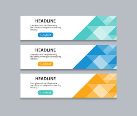 abstract web banner design template background Illustration