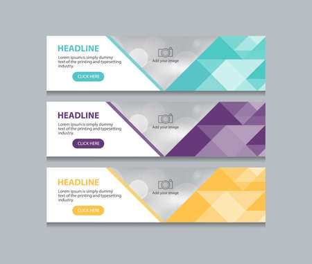 web banner: abstract web banner design template background Illustration