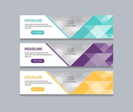 Abstrait bannière web design template fond Banque d'images - 63556211