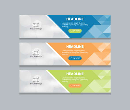 抽象的な web バナー デザイン テンプレートの背景  イラスト・ベクター素材
