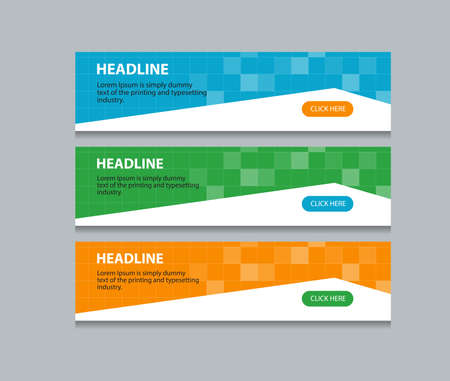 web design background: abstract web banner design template background Illustration